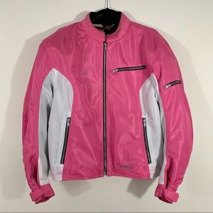 Womens First Gear Mesh Contour Jacket Pink White